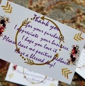 Other - Thank you note cards- sellers